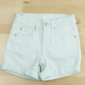7 For All Mankind Mint Green Denim Jeans Shorts